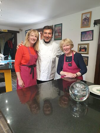 Tea Green, UK: Mum and I with Jean-Christophe