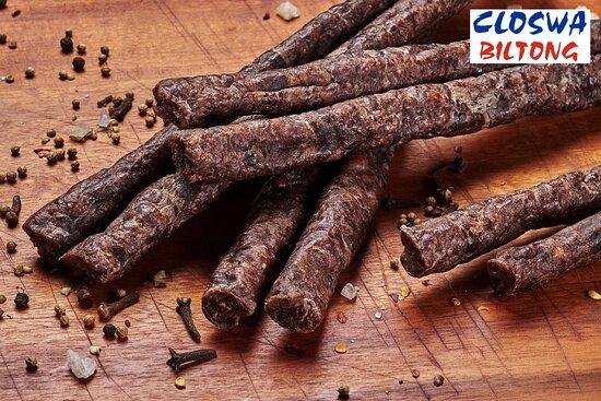 Okahandja, Namibia: Traditional Droëwors - Dried sausage.