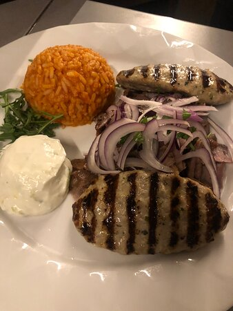 Gyros Suzuki zaziki reis und salat .!! Apollon Teller .!! Resteurant Poseidon Ingolstadt .!! Tel:0841/34967