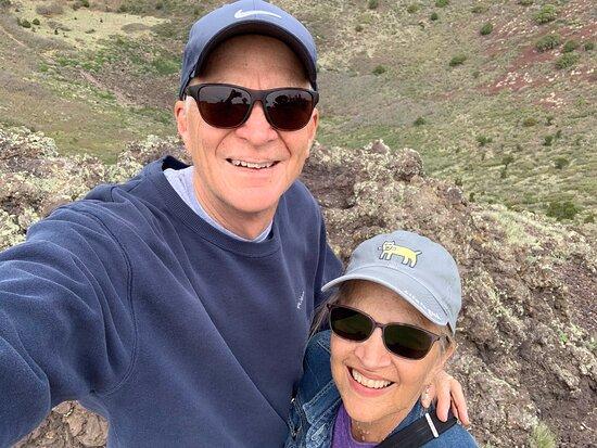 Capulin, NM: A fun walk around the rim trail.