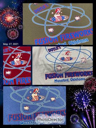 Doyle's Fusion Fireworks, Mannford, OK. TEE'S!