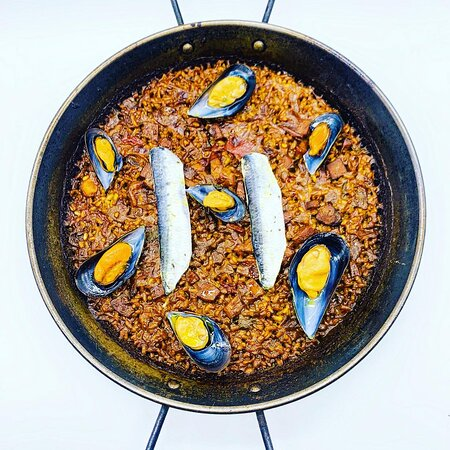 Arroz de sardinas y mejillones