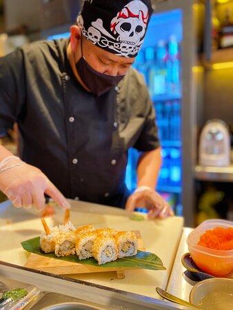 Sushi preparado al momento