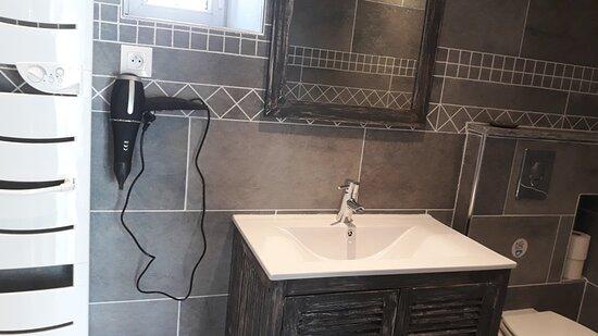 salle d'eau de la chambre Family