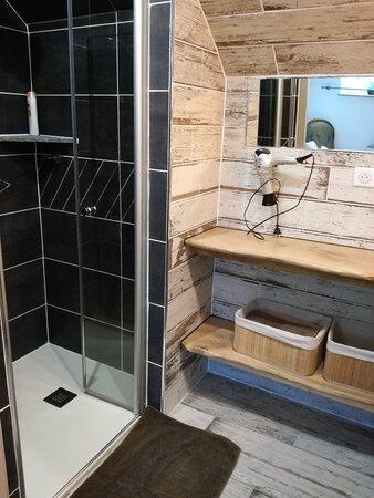 Couffy, France: Douche salle d'eau la Portiène