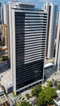 Vista aérea do prédio