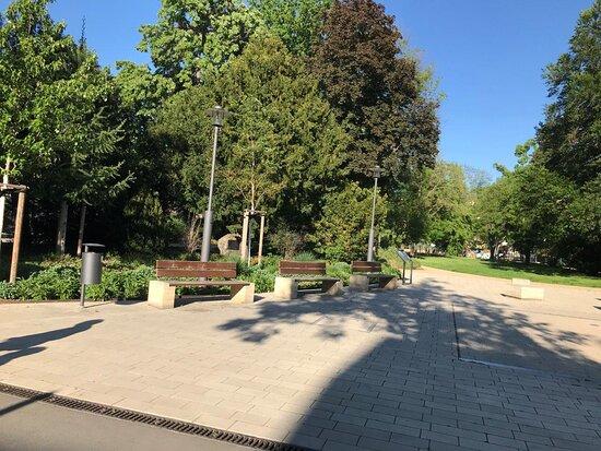 Wasserspiel am Friedenspark