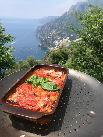 Rolling stuffed slice of eggplant 🍆 with heart of meat balls with the view!!