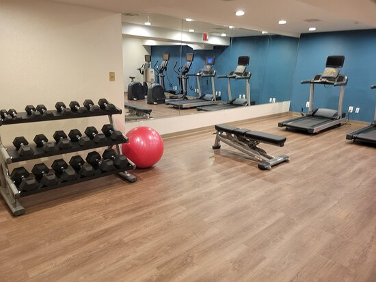 Maspeth, NY: Complimentary newly renovated 24 hour fitness center all new equip