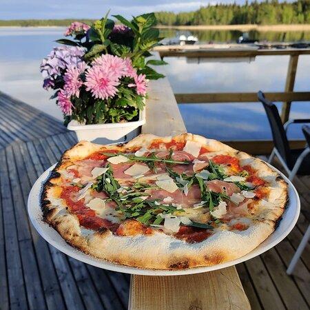 Liperi, פינלנד: Pizza prosciutto (Nr. 7 on the pizza menu)