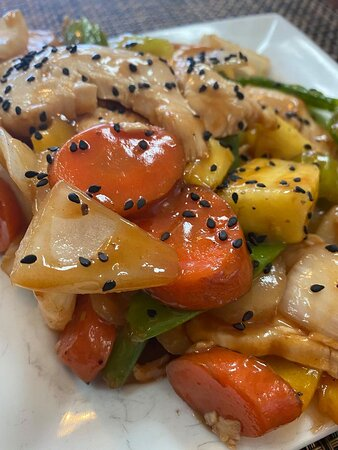 Sheridan, MT: sweet and sour chicken