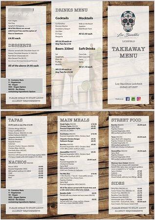 Take away menu
