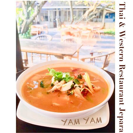 Tom Yam seafood YAM YAM Restaurant Jepara is Open Everyday!!!!!! Full service Nonstop. Special info during Covid period the Open hours will be from 8:00-21:00 ( last order 20:15, last order for take away until 20:45)  See you... Kiss (from faraway) All staff YAM YAM 😘