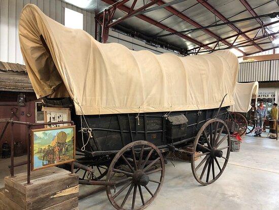 Lakin, KS: Authentic 1835 Conestoga wagon