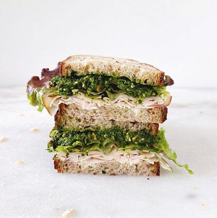 Middlesex, เวอร์มอนต์: Turkey Pesto Sandwich