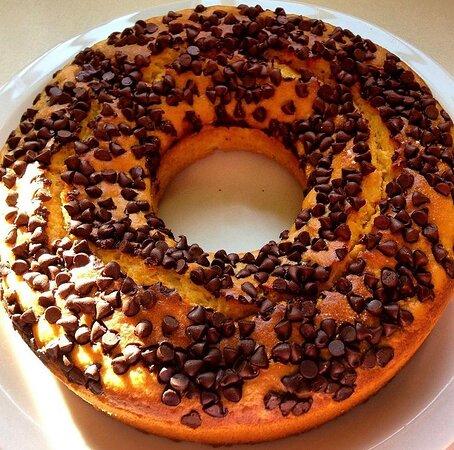 Ciambella frullata arancia e gocce di cioccolato