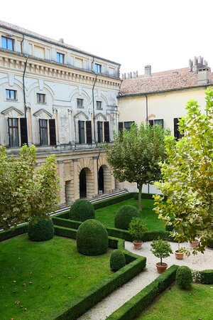 Mantova Palazzo Ducale View on a courtyard with garden