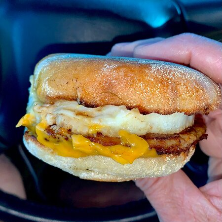 East Grand Forks, MN: TWO Sausage, Egg, and Cheese McMuffins to begin an early Saturday morning.... To-Go! So tasty! Just what I was craving! 6/12/21