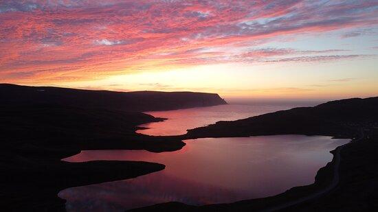 עיריית נורדקאפ, נורווגיה: Sole di mezzanotte a Capo Nord.