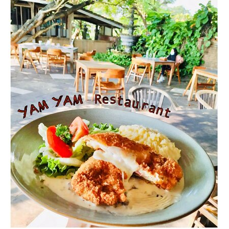 Chicken Cordon bleu YAM YAM Restaurant Jepara is Open Everyday!!!!!! Full service Nonstop. Special info during Covid period the Open hours will be from 8:00-21:00 ( last order 20:15, last order for take away until 20:45)  See you... Kiss (from faraway) All staff YAM YAM 😘