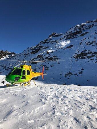 Epic heli adventure with snow landing!