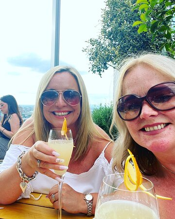 Sunday drinks on the terrace
