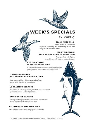 Our Week's Specials