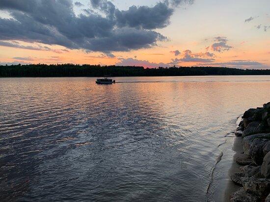 Poland, ME: Lake view / sunset
