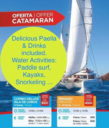 Let's go on a Catamarán trip this holiday with us ...