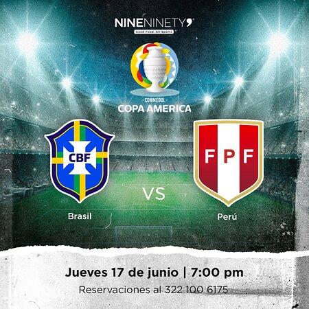 Vive toda la pasión de la Copa América en tu cóctel sport bar favorito, Nine Ninety 9. ⚽🏆🔥  #Brasil 🆚 #Peru  📅 Jueves 17 de junio ⏰ 7:00 pm