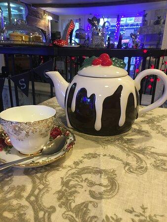 Our best Christmas tea pot.