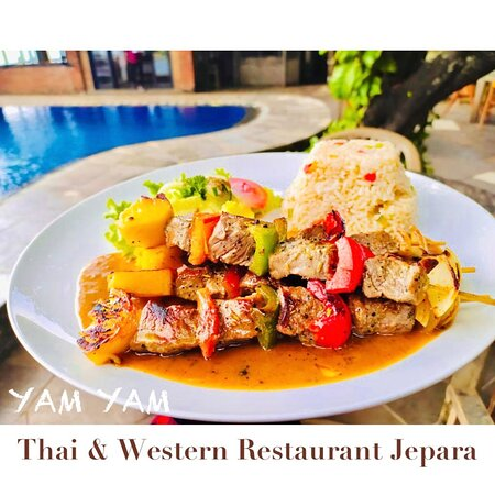 Beef Barbecue  YAM YAM Restaurant Jepara is Open Everyday!!!!!! Full service Nonstop. Special info during Covid period the Open hours will be from 8:00-21:00 ( last order 20:15, last order for take away until 20:45)  See you... Kiss (from faraway) All staff YAM YAM 😘