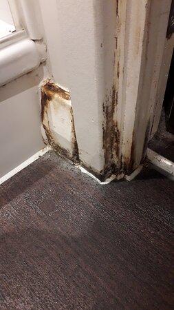 Mould or grime on door