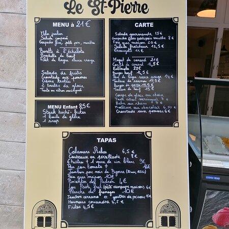 Un menu à 18 euros le midi, à 21 euros  en soirée et le week-end; et toute la semaine une carte variée mettant en avant des produits de notre terroir sélectionnés avec soins..