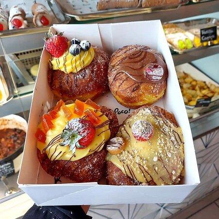 Homemade Sicilian bombolone donuts at Poco Leeds