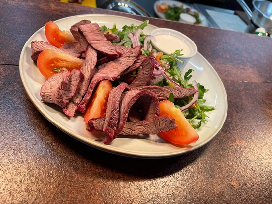 From our express lunch menu, Steak Salad