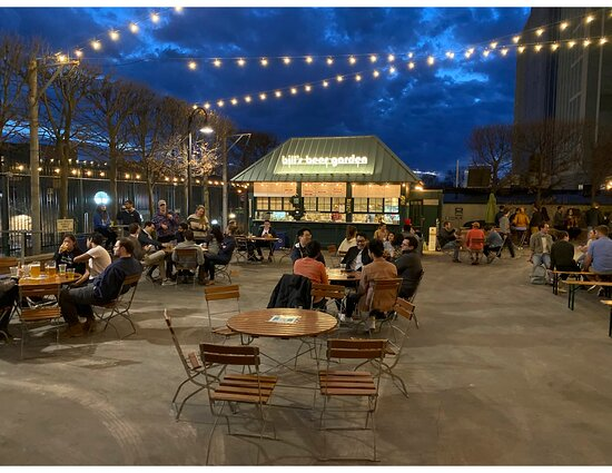 Oh beautiful nights under the moonlight clouds at Bill's beer Garden