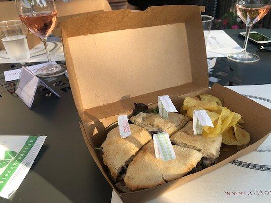 Badia a Passignano, Ιταλία: panino gourmet
