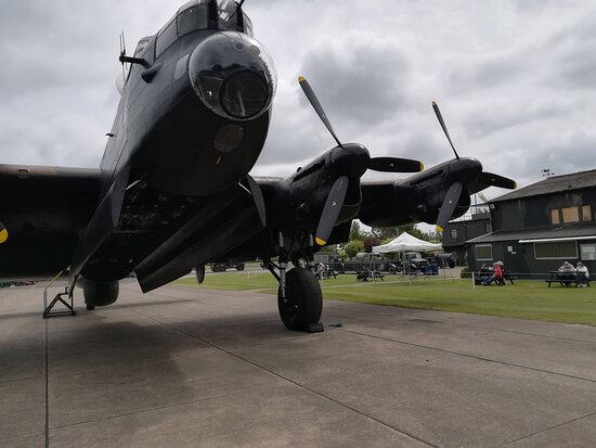 Lancaster with museum buildings in the background.