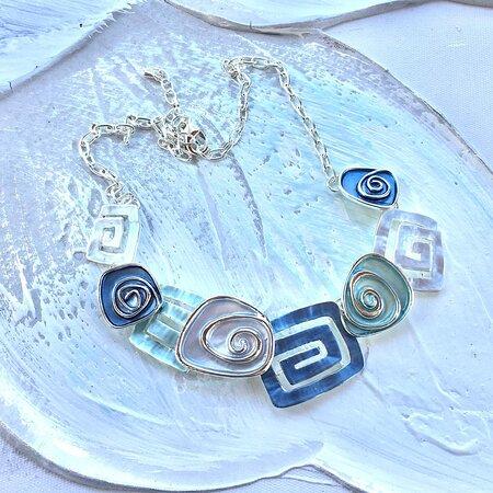Greek Meander necklace