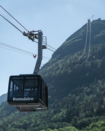 See the beauty of the untouched nature of Romsdalen from our gondola.