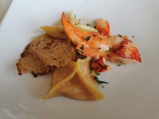Rhinau, ฝรั่งเศส: Homard et ravioles de homard