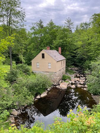 Overlooking Halls Brook- you can see the foundation from 1750 of the original gristmill.