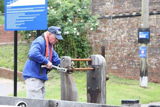 Foxton, UK: Volunteer