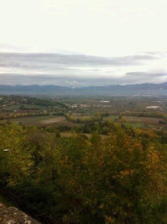 Campagna umbra ( e toscana) vista dalla sommità di Citerna, uno dei borghi più belli d'Italia. Nov 2018