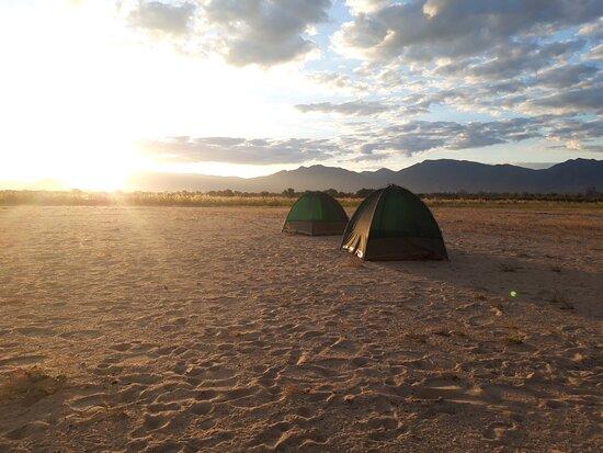 Chirundu, زامبيا: Campsite night 1 