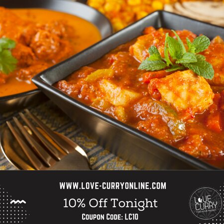Chicken curry with 10% Off