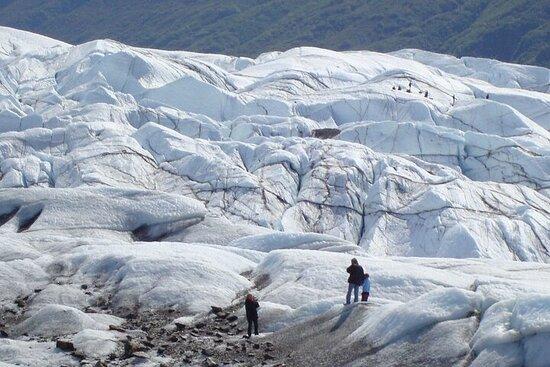 Aventure à pied sur les glaciers de l'Alaska