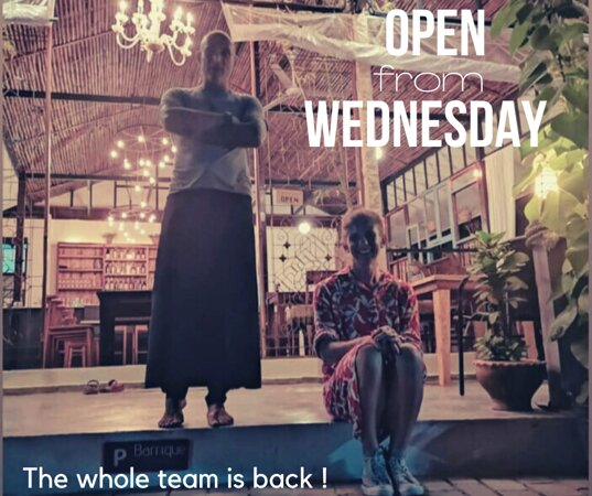The whole team can't wait to see you again!  Re-opening on Wednesday at 6pm.