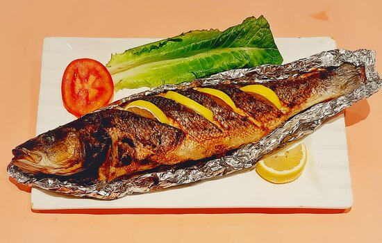 Doha, Catar: seabass grill